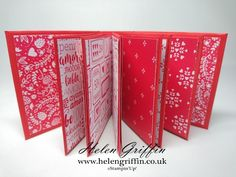 Part 1 - Stampin'Up! Valentine's Miniature Envelope Album Tutorial - YouTube