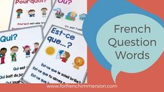 French Question Words: FREE posters