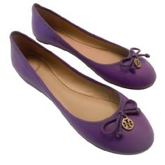 1 LEFT! TORY BURCH LAVENDER CHELSEA BALLET FLATS This iconic staple goes with just about anything in your wardrobe. Super soft, light, and packable! They are the perfect slip on and go shoe for effortless chic and designed for a perfect fit. The Chelsea ballet flat is the close cousin of the genuine ballerina slippers, with extra structure for support and comfort. The perfect flat for a night out or casually polished for a day of errands. Discounted bundles! Box and dust bag included. Tory…