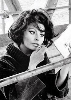 Sophia Loren.....she always owned her body, her heritage, and the things that made her stand out.....she looked beautiful in couture or a tshirt because she learned to love herself