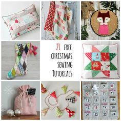 Christmas sewing tutorials
