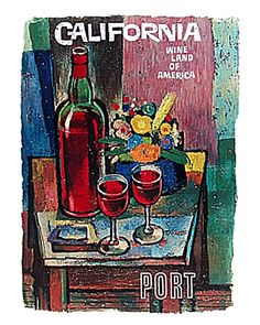 California Wine Country Vintage Reproduction by DelightfulTrifles