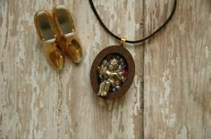 Vintage Golden Boy Super Fashion Rock Star Rainbow Glass Stars Sacred Nicho Wooden Pendant Necklace Ambient Atelier Glam Art Jewelry Design by AmbientAtelier on Etsy