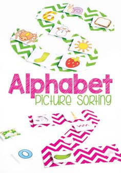 Work on beginning sounds with your new readers with these fun alphabet picture sorts. Black & white alphabet available for individual student sheets. Kids will love learning the alphabet with these! Preschool Learning Activities, Alphabet Activities, Hands On Activities, Fun Learning, Alphabet Crafts, Preschool Literacy, Teaching Resources, Alphabet Letters, Learning Spanish