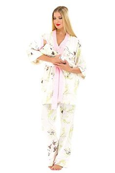 Bundle 2 Items- Olian Maternity Nursing PJ Floral   Bella B Breastwipes  Pink L at Amazon Women s Clothing store  fc0a2cdb7