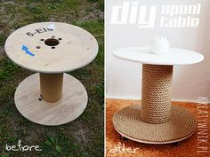 Homemade spool table...