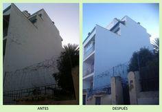 Rehabilitación de fachada con Trabajos verticales