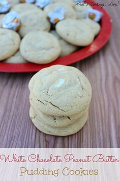 White Chocolate Peanut Butter Pudding Cookies  l  What's Cooking Love?