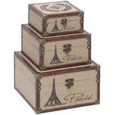 3 Piece Eiffel Tower Trunk Set