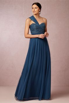Juliette Dress from BHLDN - Two straps can be attached to bodice for a romantic, symmetric look.
