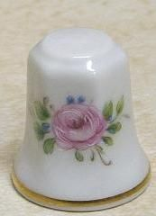 Pastel Flowers Thimble Royal Porzellan Glazed ❤❤❤