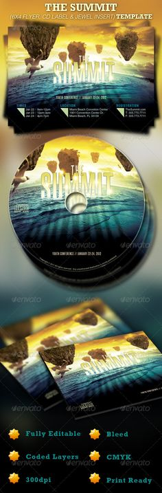 The Summit Church 6x4 Flyer and CD Template- Price: $7.00