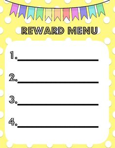 reward menu
