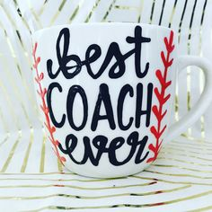 Best Coach Ever- Gifts for Coach- Softball Coach- Soccer Coach- Baseball Coach Gift- Gifts for coaches- Coaches Coffee Mug- Coach- Coaches by PickMeCups on Etsy