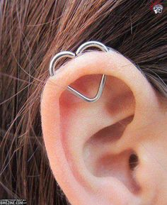 My ear is pierced like this...I've never seen anything else to go in it other than a hoop!!! Love it!!
