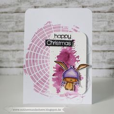 Weihnachtskarte, Winterkarte, Christmas, Winter, Card, Karte, Hase