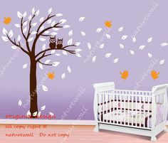 Kids wall decals owl Tree  baby decal nursery decal by NatureWall, $56.00