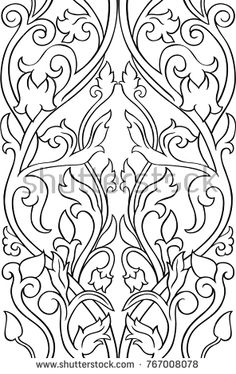 Black and white floral pattern. Stylized template for wallpaper, textile, shawl, carpet. Geometric Embroidery, Folk Embroidery, Geometric Rug, Hand Embroidery Designs, Embroidery Patterns, Cross Stitch Patterns, Machine Embroidery, Paisley Pattern, Pattern Art