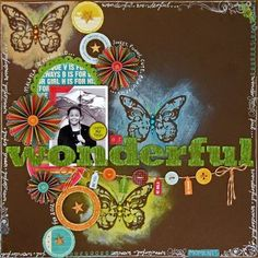 Wonderful Layout by Julianna McKenna using Jillibean Soup's Sweet & Sour Soup paper, corrugated alphas, and pea pod parts (via the Jillibean Soup blog).