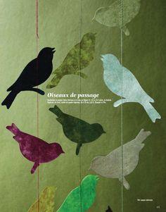 Marie Claire Maison, bird art