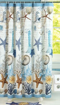 Antigua Seabreeze Shower Curtain  Flip Flop Shower Curtain