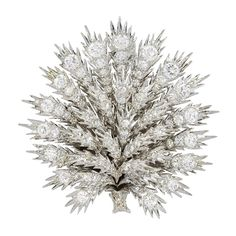 Buccellati - Estate Buccellati Diamond Thistle Bush Pin offered by Shreve, Crump & Low on InCollect Antique Brooches, Antique Jewelry, Vintage Jewelry, Diamond Brooch, Diamond Jewelry, Diamond Ice, Royal Jewelry, Semi Precious Gemstones, Fine Jewelry