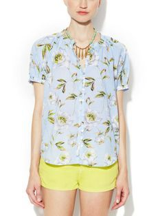 Spring Bloom Voile Cotton Blouse by French Connection on sale now on Gilt.