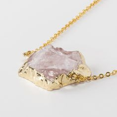 Brittany Natural Rose Quartz Necklace #jewelry #austintx #arialattner #bohochic #atx