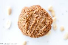 Clean Eating 3 Ingredient Peanut Butter Cookies | The Gracious Pantry