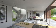 Infinitas living area. Feat internal patio garden and large living area accessing the full length covered terrace.