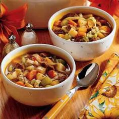 """Old-Fashioned Beef Stew Recipe ~ """"This rich, hearty beef stew has a garden full of flavor with vegetable like cabbage, rutabaga and carrots. Mom knew this main dish is one that would suit us 11 kids. When we were all home, she'd throw in extra vegetables to stretch it."""" -Anne Heinonen, Howell, Michigan"""