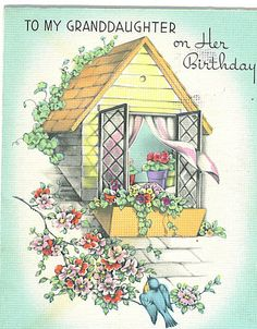 To My Granddaughter on Her Birthday card by Tommer G, via Flickr