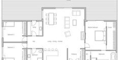House Plan CH339 Shed Floor Plans, Small Floor Plans, Pole Barn House Plans, Cabin Plans, Mini House Plans, New House Plans, Modern House Plans, Small House Plans, Shop With Living Quarters