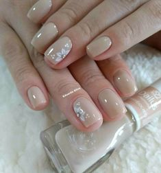 Shellac Nails, Acrylic Nails, Bride Nails, Pretty Nail Art, Manicure E Pedicure, Get Nails, Stylish Nails, Nail Decorations, Flower Nails