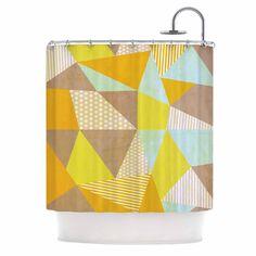 "Louise Machado ""Geometric"" Pastel Yellow Shower Curtain"