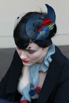 Mourning? I think not!  This headpiece makes me so happy!  Love the whole ensemble, really! $205