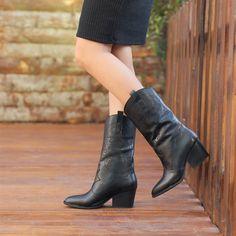 Lusaka Siyah Kalın Topuklu Western Bot   #black #boots #heels #western #siyah #topuklu #kovboy #bot Western Boots, Westerns, Heels, Black, Fashion, Heel, Moda, Black People, Fashion Styles