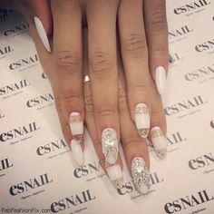 White Nails And Artistic Nail Styles 27