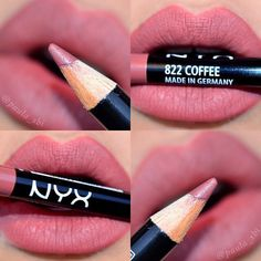 Nyx lip liner in coffee is STUNNING!