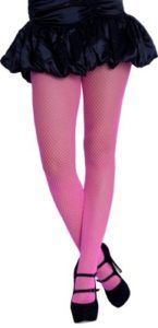 Hot pink fishnet pantyhose - 1980's!