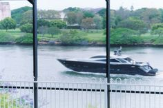Watching the boats on the river, from my office in Hawthorne