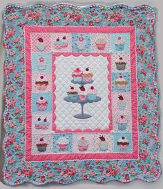 PATCHWORK / QUILTING APPLIQUE CUP CAKE WALL HANGING SEWING PATTERN