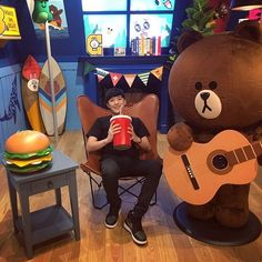 "@sooyoon_kim: ""브라운이랑 #line #ライン #라인 #브라운"" Royal Pirates, Mickey Mouse, Disney Characters, Fictional Characters, Bands, Bear, Band, Bears, Band Memes"