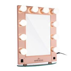 Impressions Vanity Hollywood Glamour Vanity Mirror in Rose Gold