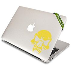 STICKERSLUG Zombie Vampire Skull Vinyl Wall Sticker Decal 12 inch matte yellow -- Visit the image link more details. Note:It is affiliate link to Amazon.
