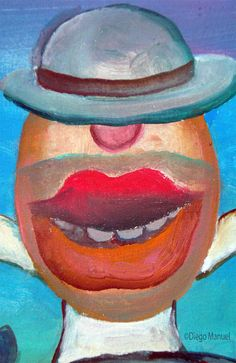 johnny herradura. Painting of the Serie Surrealism for sale by artist Diego Manuel