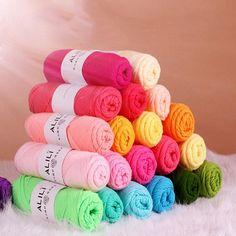 Atacado de bambu fios macios bebê Crochet algodão fios de tricô de lã de tricô leite algodão fio grosso para cachecol camisola