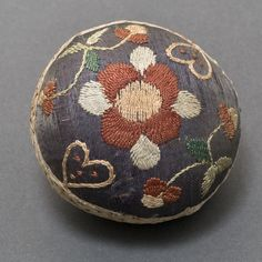 Tool (for sewing) (Pinball) Category: Textiles (Needlework)  Place of Origin: Connecticut, United States, North America  Date: 1750-1800  Materials: Silk  Techniques: Embroidered, Woven