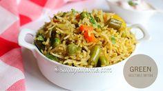 Green vegetable biryani recipe, Green biryani