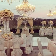 Not to crazy about the fanciness, but I love the draping beads from the flowers